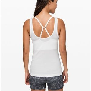 Lululemon Seek Simplicity White Ribbed Tank Top